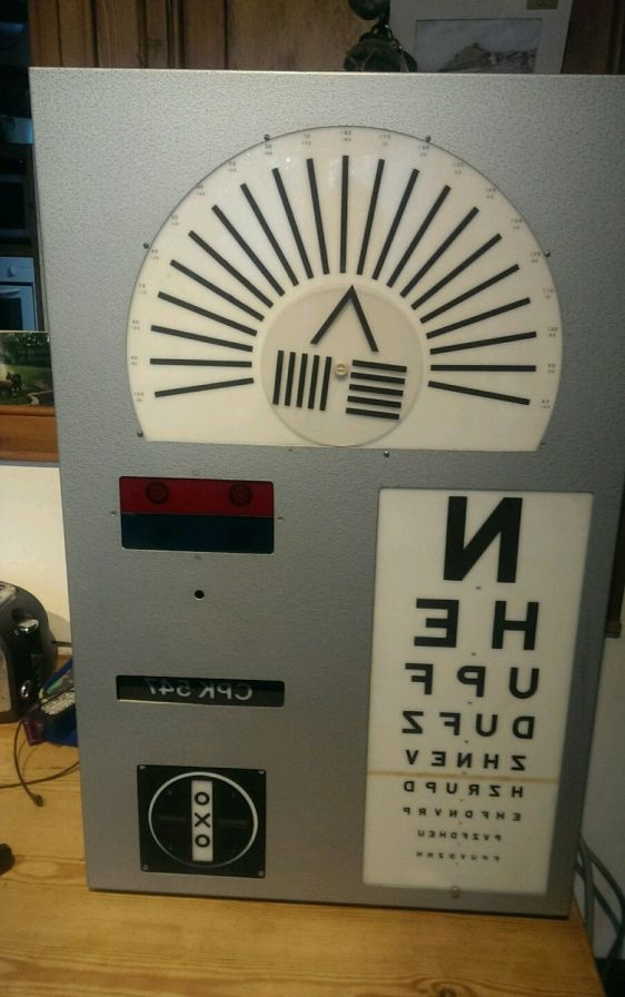 Vintage Eye Test Chart Machine Used Test Chart Box