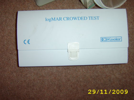 Logmar crowded test chart | Used Accessories | Ophthalmic