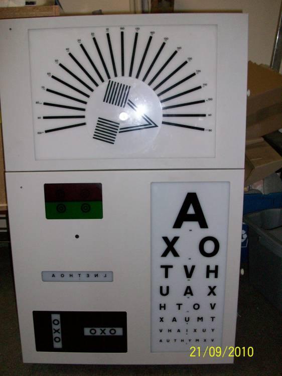 Snellen Fan Block Chart Used Test Chart Box Ophthalmic