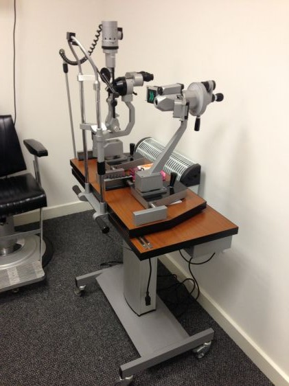 Slit lamp and keratometer used slit lamps ophthalmic equipment slit lamp and keratometer aloadofball Choice Image