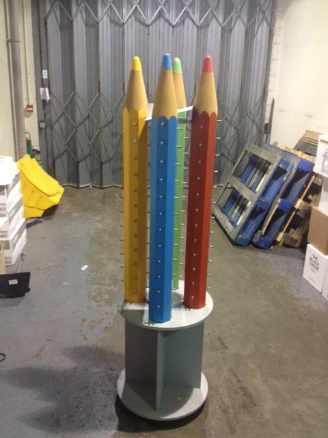 Childrens Pencil Displays Frame Display Units