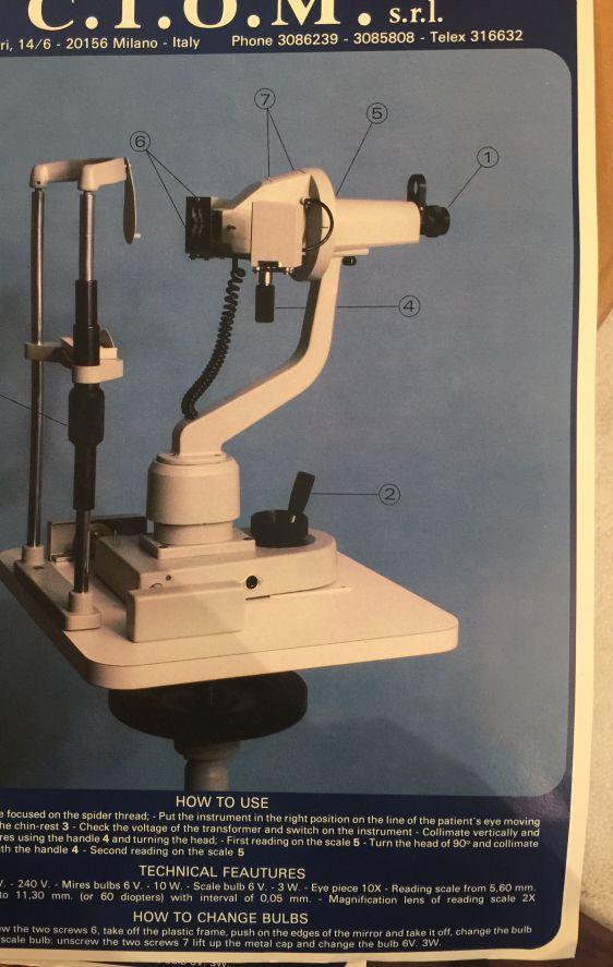 Ciom Keratometer Used Keratometers Ophthalmic