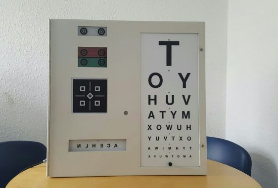 Snellen Eye Chart Used Test Chart Box Ophthalmic Equipment